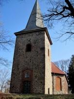 Kirchturm der Kirche von Siebeneichen