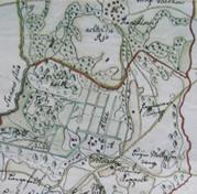 Karte von dem Graeflichen Guthe Wotersen von 1719